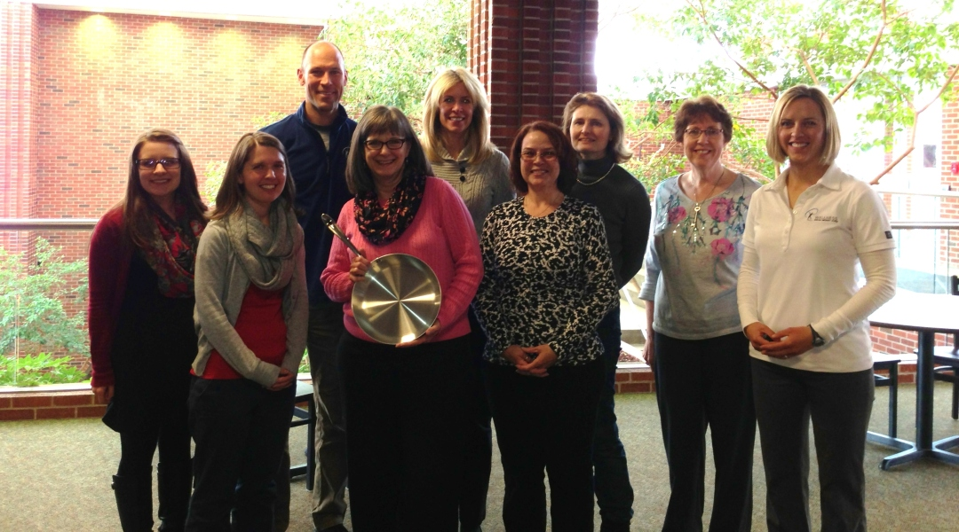 Montana Meals Quarterly Prize winner Lynda H. with the rest of the Wellness Champion team from MSU Billings.