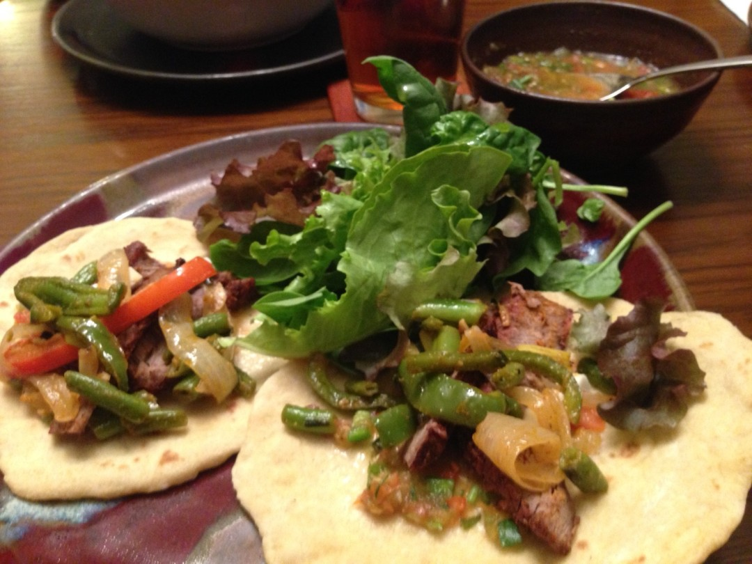 Neal's fajitas--growing up in the south, he's had plenty of practice making these.
