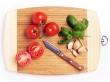Tomatos on cutting board
